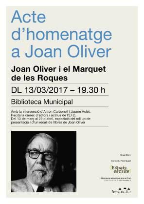 Cartell Acte homenatge Joan Oliver (1)