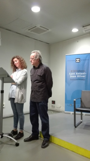 Acte a la Biblioteca Joan Oliver del barri de Sant Antoni. Dia 13 de febrer de 2019, 3